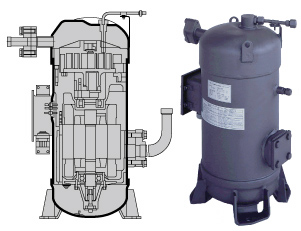 scroll compressors enggcyclopedia 2 Stage HVAC Scroll Compressor majority of scroll compressors used in refrigeration and hvac services are of vertical orientation, with the scroll sets typically installed on the upper